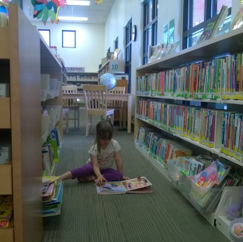 reading at library