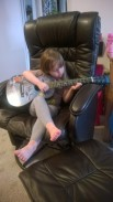 """""""playing"""" the guitar"""