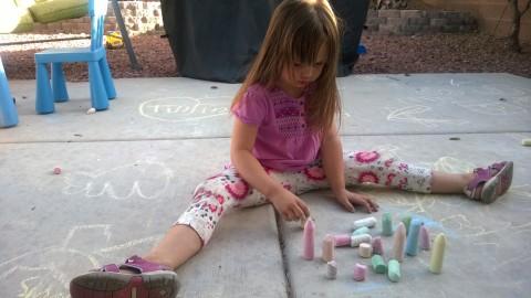 recreating Stonehenge with chalk